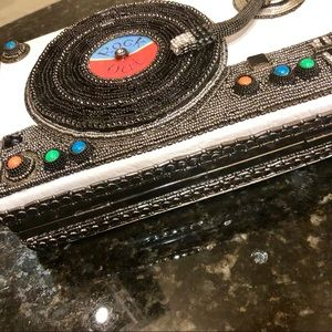 Mary Frances Bags - NWT Mary Frances Rock Out Record Player Handbag